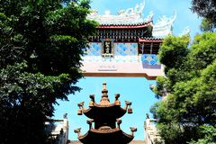 Mazu temple , Tianhou temple , The God of the sea in China. Mazu, the sea goddess belief centered on the southeastern coast of China, is also called the heavenly Royalty Free Stock Photography
