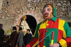 Mazuecos - Botarga La SOLDADESCA SPANJE Royalty-vrije Stock Afbeelding