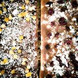 Mazurek cake. Artistic look in vintage vivid colours. Royalty Free Stock Photo