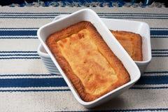 Mazurkacake op wit blauw tafelkleed 4 Royalty-vrije Stock Afbeelding