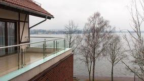 Mazury现代旅馆Ostroda在波兰 免版税库存图片