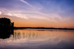 Mazury -波兰湖土地  库存照片