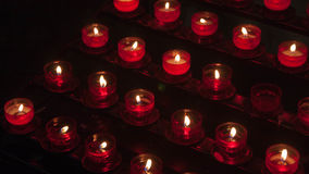 Mazury church candles in Poland Stock Photography