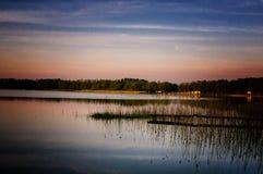 Mazury - landet av polska sjöar Arkivfoto
