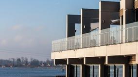 Mazury Ostroda现代公寓在波兰 免版税库存图片