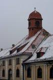 Mazury oude stad Ostroda in Polen Stock Foto