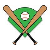 Mazza da baseball Fotografie Stock