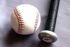 Mazza da baseball e sfera Fotografia Stock