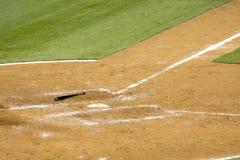 Mazza da baseball su terra Fotografia Stock