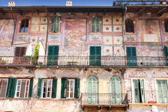 Mazzanti house in Piazza delle Erbe in Verona Royalty Free Stock Photo