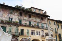 Mazzanti house verona. Mazzanti house in historical center Stock Photos