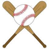 Mazze da baseball e sfera Immagine Stock Libera da Diritti