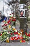 Mazzi dei fiori e delle candele Fotografia Stock Libera da Diritti