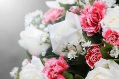 Mazzi del fiore della rosa di bianco Fotografia Stock Libera da Diritti