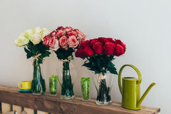 Mazzi delle rose Fotografia Stock