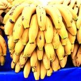 Mazzi di banane mature Fotografia Stock