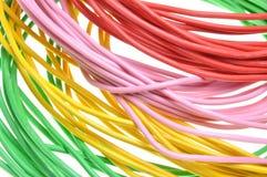 Mazzi di cavi elettrici di colori Fotografia Stock