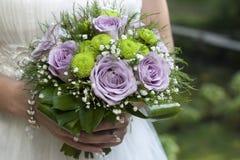 Mazzi di cerimonia nuziale delle rose Immagini Stock Libere da Diritti
