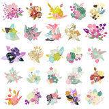 25 mazzi floreali Fotografia Stock Libera da Diritti