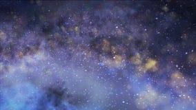 Mazzi nebbiosi in risparmiato in La galassia nello spazio Immagine Stock Libera da Diritti