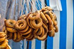 Mazzi tradizionali di bagel immagini stock