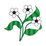 Mazzo astratto dei colori di calcio con le foglie verdi Immagine Stock