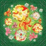 Mazzo astratto dei fiori variegati illustrazione di stock