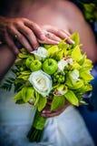 Mazzo dai fiori e dalla frutta Fotografia Stock