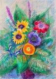 Mazzo decorativo dei fiori Fotografia Stock