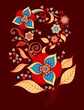 Mazzo decorativo dei fiori royalty illustrazione gratis