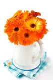 Mazzo dei fiori arancio Fotografia Stock