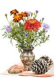 Mazzo dei fiori, dei germogli e delle ghiande di autunno. Immagine Stock