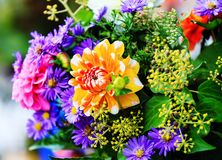 Mazzo dei fiori di autunno Fotografie Stock Libere da Diritti