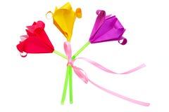 Mazzo dei fiori di carta Fotografie Stock