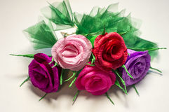 Mazzo dei fiori di carta Immagini Stock