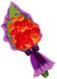 Mazzo dei fiori di rosa royalty illustrazione gratis