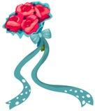 Mazzo dei fiori di rosa illustrazione di stock