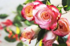 Mazzo dei fiori di rosa Immagine Stock Libera da Diritti