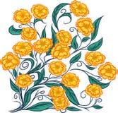 Mazzo dei fiori gialli Fotografie Stock