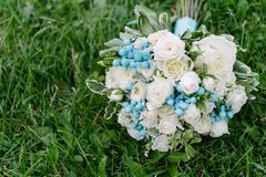 Mazzo dei fiori Il bride' mazzo di s Mazzo nuziale Floristics fotografia stock