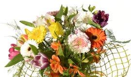 Mazzo dei fiori luminosi isolati su bianco Fotografia Stock