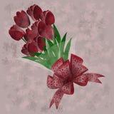 Mazzo dei fiori rossi Illustrazione Vettoriale