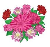 Mazzo dei fiori rossi - illustrazione Illustrazione Vettoriale
