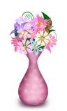 Mazzo dei fiori in un vaso Fotografia Stock