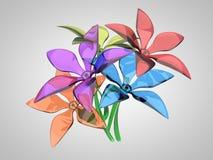 Mazzo dei fiori variopinti Immagini Stock