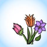Mazzo dei fiori variopinti royalty illustrazione gratis