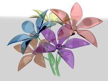 Mazzo dei fiori variopinti di vetro Fotografia Stock Libera da Diritti