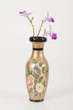 Mazzo dei fiori in vaso isolato su bianco fotografia stock libera da diritti