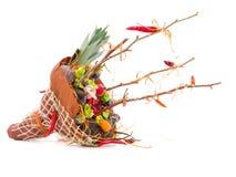 Mazzo dei frutti e dei fiori Disposizioni commestibili, mazzo vegatable della frutta commestibile immagine stock