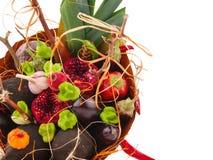 Mazzo dei frutti e dei fiori Disposizioni commestibili, mazzo vegatable della frutta commestibile immagini stock
